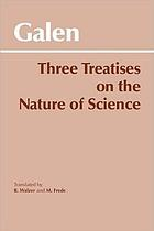 Three treatises on the nature of science
