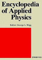 Encyclopedia of applied physics / 22, Topology to underwater and atmospheric acoustic signal processing.
