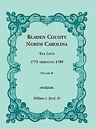 Bladen County, North Carolina tax lists