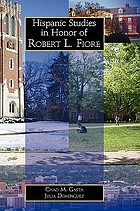 Hispanic studies in honor of Robert L. Fiore