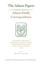 Adams family correspondence. Volume 12, March 1797-April 1798