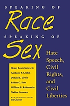 Speaking of race, speaking of sex : hate speech, civil rights and civil liberties