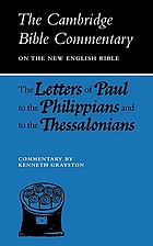 The Letters of Paul to the Philippians and to the Thessalonians