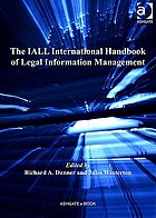The IALL international handbook of legal information management