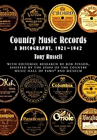 Country Music Records : a discography, 1921-1942