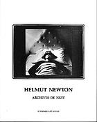 Helmut Newton : archives de nuit