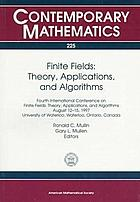 Finite fields : theory, applications, and algorithms : Fourth International Conference on Finite Fields-- Theory, Applications, and Algorithms, August 12-15, 1997, University of Waterloo, Ontario, Canada