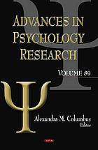 Advances in psychology research. Volume 89