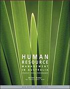 Human resource management in Australia : strategy, people, performance