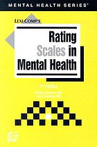 Rating Scales in Mental Health cover image