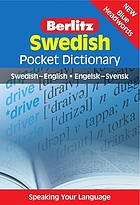 Swedish pocket dictionary : Swedish-English = Engelsk-Svensk.