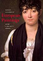 Summary catalogue of European paintings and sculpture.