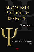 Advances in psychology research. / Volume 67
