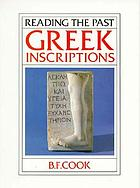 Greek Inscriptions cover image