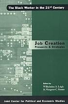 Job creation prospects & strategies