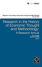 Research in the history of economic thought and methodology. Vol. 29, pt. 1