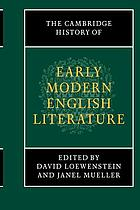 The Cambridge history of early modern English literature