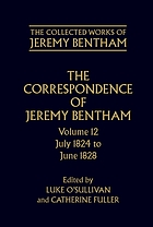 The correspondence of Jeremy Bentham,