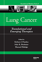 Lung cancer : translational and emerging therapies