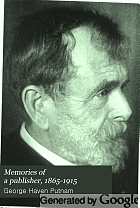 Memories of a publisher, 1865-1915