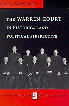 The Warren court in historical and political perspective