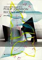 Philip Johnson : recent work