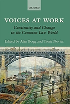 Voices at work : continuity and change in the common law world