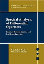 Spectral Analysis Of Differential Operators : Interplay Between Spectral And Oscillatory Properties.