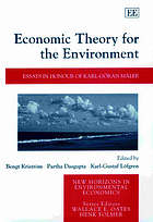 Economic theory for the environment : essays in honour of Karl-Göran Mäler