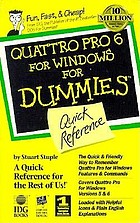 Quattro Pro 6 for Windows for dummies : quick reference