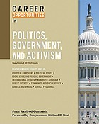 Career opportunities in politics, government, and activism