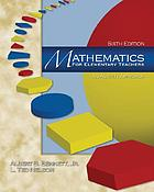 Mathematics for elementary teachers : an activity approach