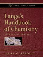 Lange's handbook of chemistry (70th anniversary edition)