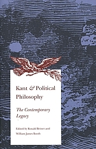 Kant & political philosophy : the contemporary legacy