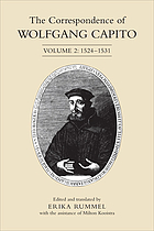 The correspondence of Wolfgang Capito. / Volume 2, 1524-1531