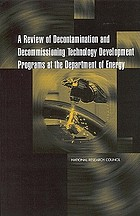 A review of decontamination and decommissioning technology development programs at the Department of Energy