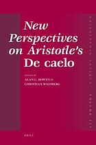 New perspectives on Aristotle's De caelo