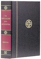 The Septuagint with Apocryphia With an English translation, and with various readings and critical notes