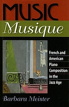 Music musique : French & American piano composition in the Jazz Age
