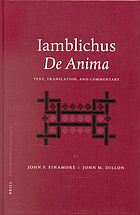 Iamblichus, De anima : text, translation, and commentary