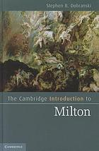 The Cambridge introduction to Milton