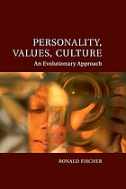 Personality, Values, Culture : An Evolutionary Approach.