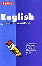 Berlitz English grammar handbook