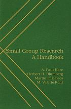 Small group research : a handbook