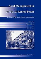 Asset Management in the Social Rented Sector : Policy and Practice in Europe and Australia