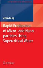 Rapid production of micro- and nano-particles using superficial water