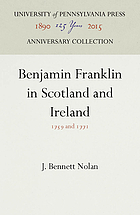 Benjamin Franklin in Scotland and Ireland, 1759 and 1771