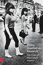 Doing Qualitative Research: The Craft of Naturalistic Inquiry cover image