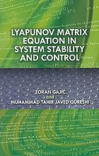 Lyapunov matrix equation in system stability and control