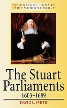 The Stuart parliaments, 1603-1689